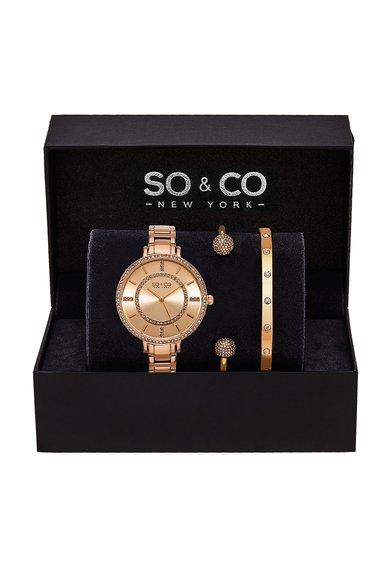 SOCO New York Set auriu rose de ceas si bratari SoHo – 3 piese