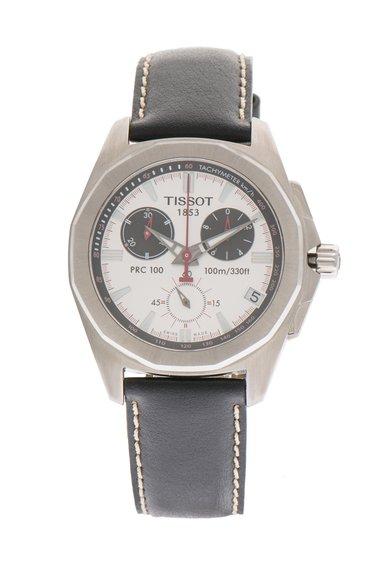 Ceas cronograf negru cu argintiu