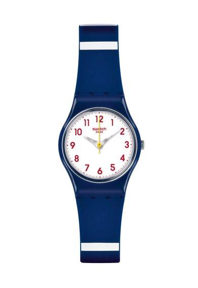 Swatch Ceas tricolor cu o curea din silicon
