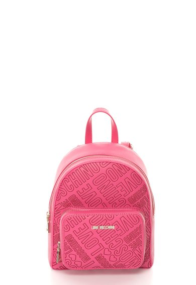Rucsac roz cu model logo de la Love Moschino