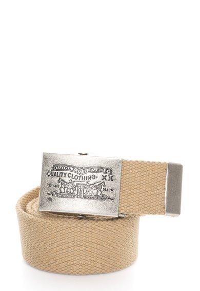 FashionDays.ro: Curea bej de material textil cu catarama gravata Levis