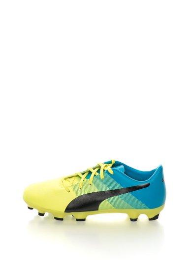 FashionDays.ro: Pantofi sport verde neon cu albastru EvoPower Puma