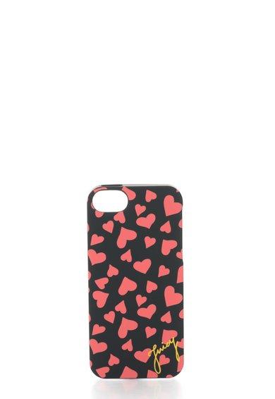 FashionDays.ro: Carcasa pentru iPhone 5/5S neagra cu inimioare Juicy Couture