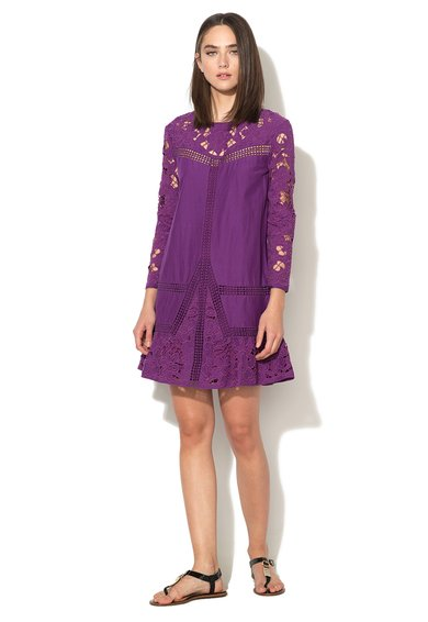 Juicy Couture Rochie violet bizantin cu insertii crosetate