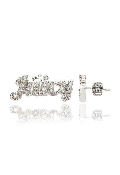 Cercei argintii cu cristale si tija Juicy