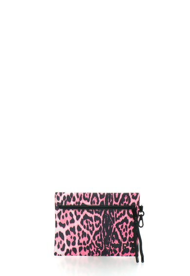 Juicy Couture Geanta plic cu animal print si design sport