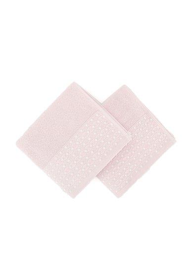Set de prosoape de maini roz cu model in relief – 2 piese de la Leunelle