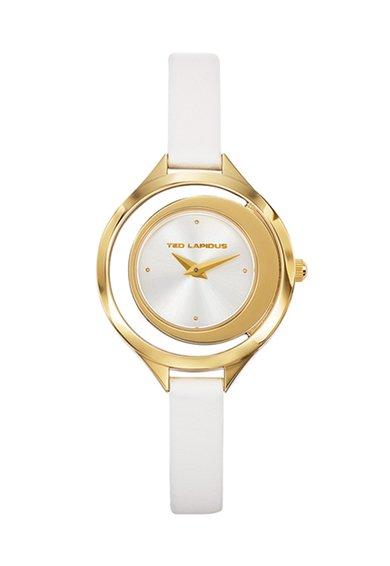 FashionDays.ro: Ceas alb cu auriu Trendy Ted Lapidus