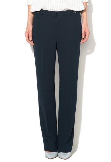 Pantaloni bleumarin din crep de la ESPRIT