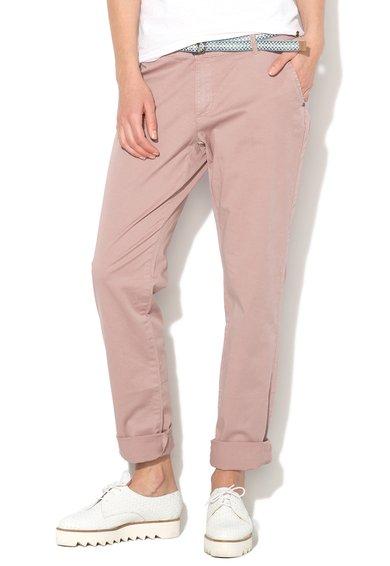FashionDays.ro: Pantaloni chino roz prafuit ESPRIT