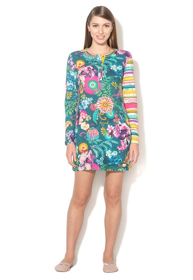 Desigual living Camasa de noapte multicolora cu imprimeuri diverse Bloom