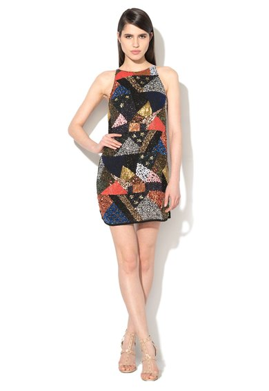 FashionDays.ro: Rochie mini multicolora cu paiete pe fata Glamorous