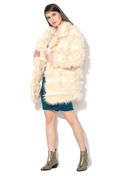Glamorous Cojoc bej deschis de blana shearling sintetica