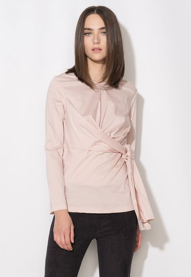 Zee Lane Collection Bluza roz pal cu talie drapata