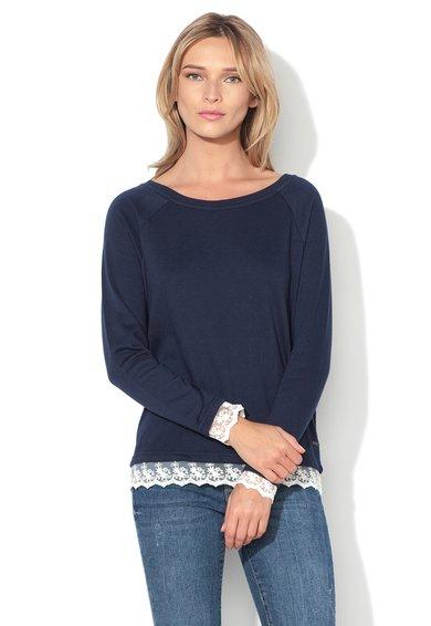Vero Moda Bluza sport bleumarin cu broderie de plasa Gry