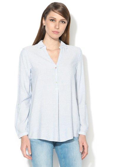 ESPRIT Camasa tip tunica albastru azur cu alb in dungi