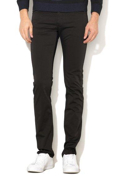 FashionDays.ro: Pantaloni slim fit negri elastici VERSACE JEANS