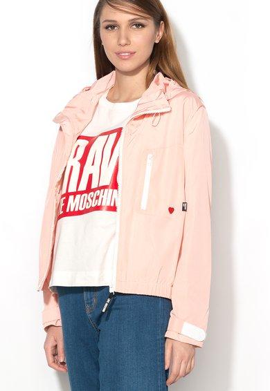 FashionDays.ro: Jacheta subtire roz pastel Love Moschino