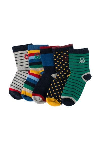 Set de sosete multicolore cu modele diverse – 5 perechi de la Undercolors of Benetton