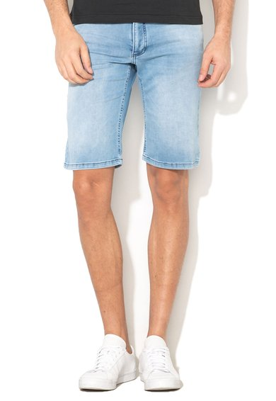 Bermude slim fit bleu din denim