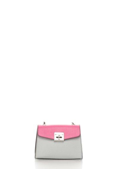 FashionDays.ro: Geanta crossbody mica colorblock de piele Brigitte Tosca Blu