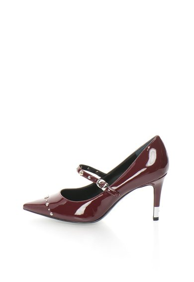 Pantofi rosu Bordeaux lacuiti cu varf ascutit GUESS