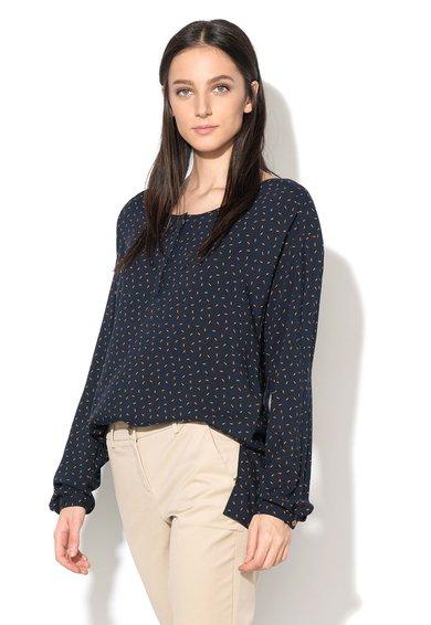 FashionDays.ro: Bluza asimetrica bleumarin cu oranj cu croiala lejera United Colors Of Benetton