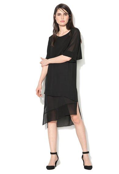 Sisley Rochie neagra transparenta