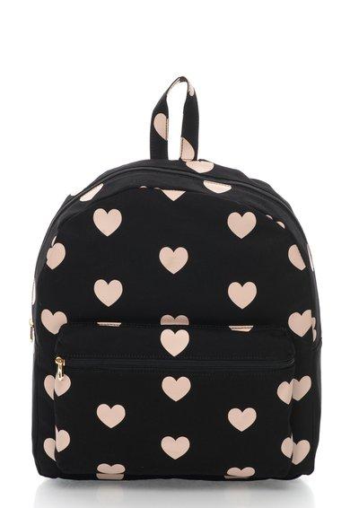 Juicy Couture Rucsac negru cu roz si imprimeu cu inimioare Pacific