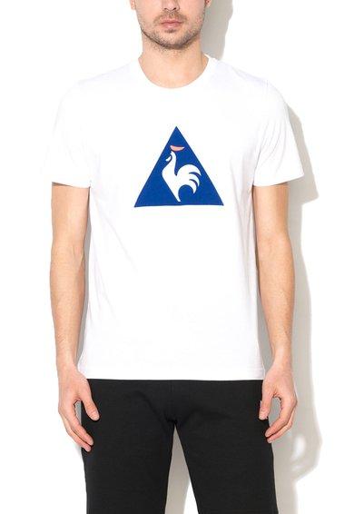 Le Coq Sportif Tricou alb cu imprimeu logo albastru
