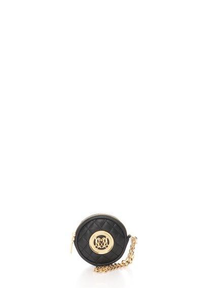 FashionDays.ro: Portmoneu negru matlasat cu bareta pentru incheietura detasabila Love Moschino