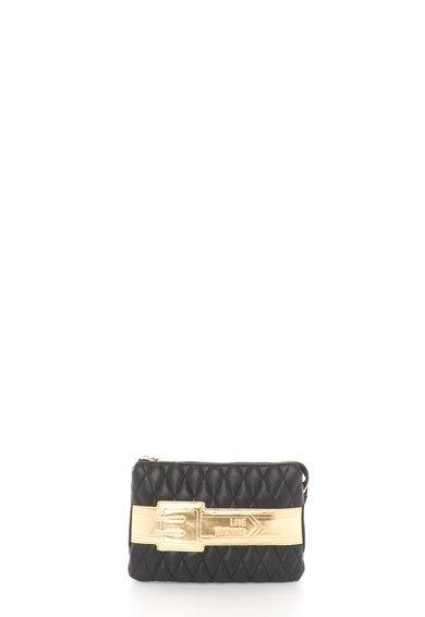 Geanta plic negru cu auriu cu bareta lant detasabila de la Love Moschino
