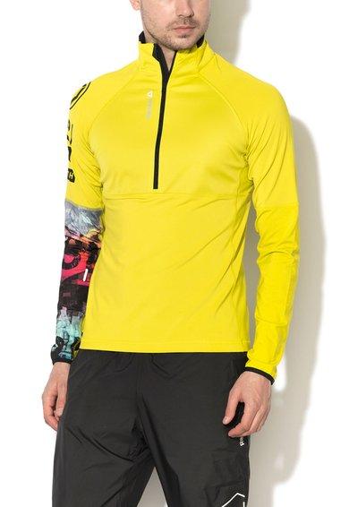 FashionDays.ro: Bluza sport slim fit pentru antrenament verde chartreuse Reebok