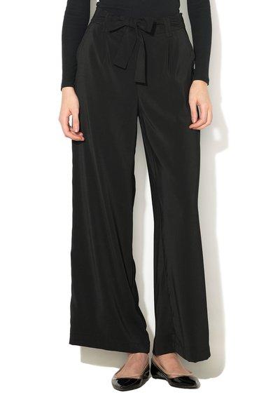 New Look Pantaloni negri cu croiala ampla Topaz