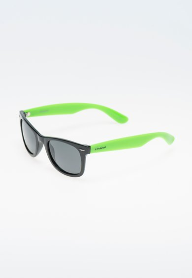 FashionDays.ro: Ochelari de soare negru cu verde neon polarizati Polaroid