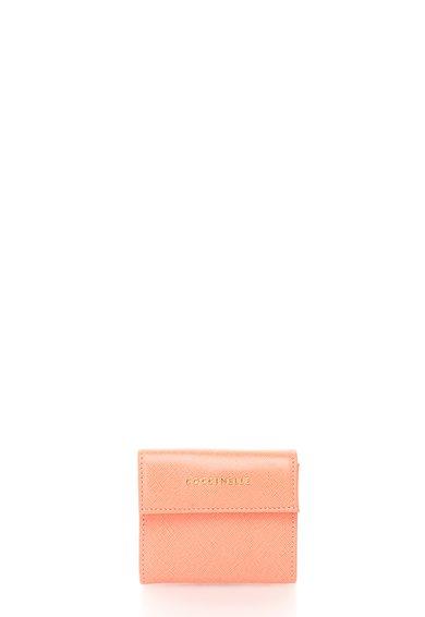 FashionDays.ro: Portofel mic roz de piele saffiano COCCINELLE