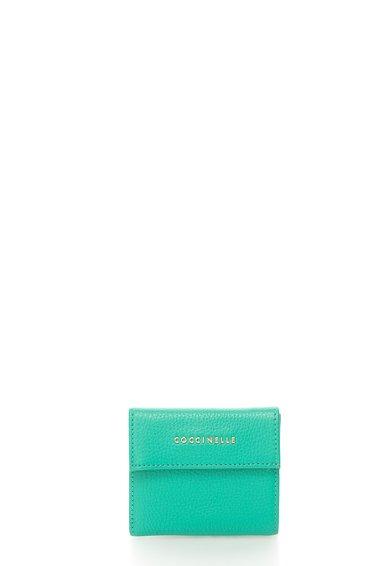 FashionDays.ro: Portofel pliabil verde veronesse de piele cu capsa COCCINELLE