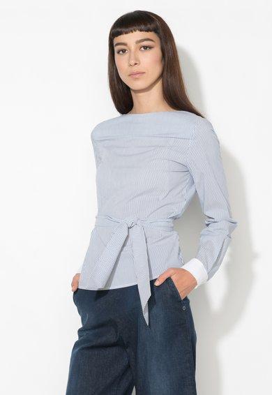 Zee Lane Denim Bluza bleumarin cu alb in dungi cu spate decupat