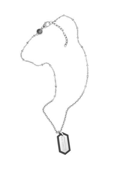FashionDays.ro: Colier argintiu cu pandantiv cu logo gravat Diesel