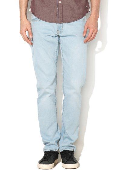 FashionDays.ro: Jeansi conici slim fit bleu EDC by ESPRIT