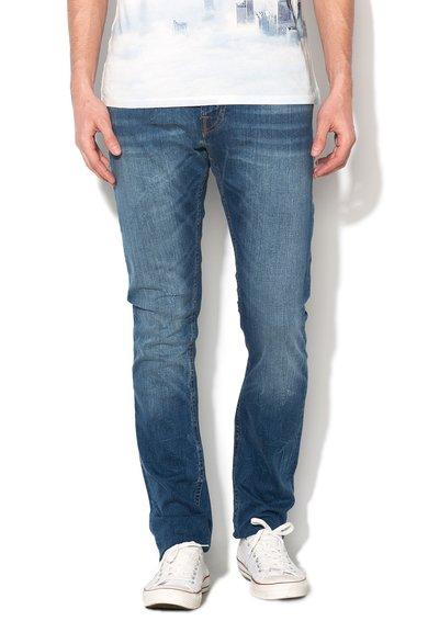 FashionDays.ro: Jeansi super skinny albastri cu talie joasa GUESS JEANS
