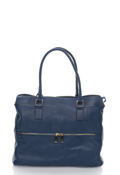 FashionDays.ro: Geanta tote bleumarin de piele Zee Lane Collection