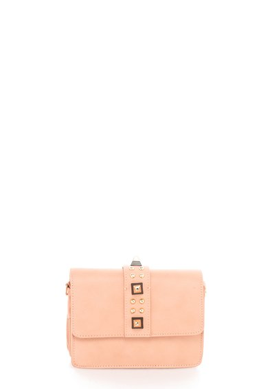 FashionDays.ro: Geanta structurata mica roz prafuit cu tinte Fae Steve Madden