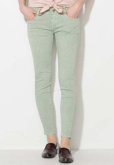 Zee Lane Denim Pantaloni conici verde celadon