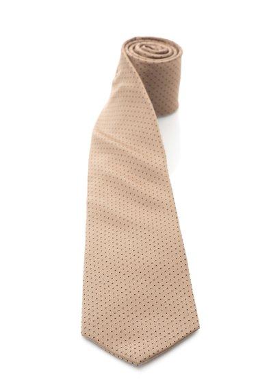 FashionDays.ro: Cravata bej inchis cu negru de matase cu buline Vincenzo Boretti