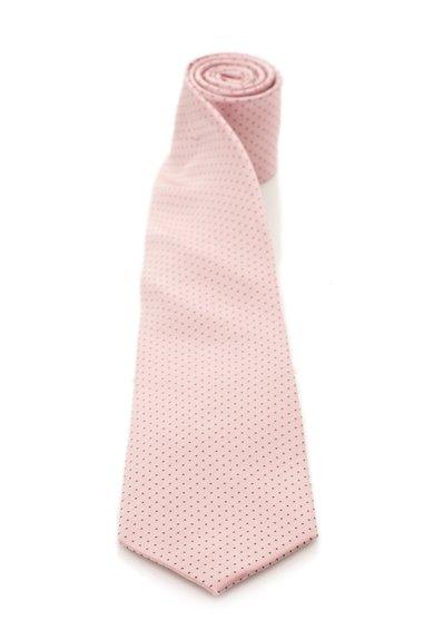 FashionDays.ro: Cravata roz garoafa cu gri inchis de matase cu buline Vincenzo Boretti