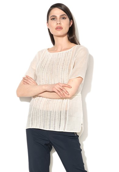FashionDays.ro: Bluza alb unt cu detalii crosetate Edera Pennyblack