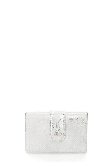 FashionDays.ro: Geanta plic minaudière alb cu argintiu cu model sarpe JLo by Jennifer Lopez