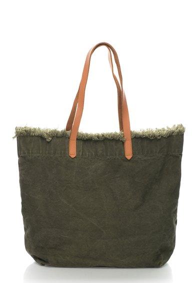 FashionDays.ro: Geanta shopper verde militar cu garnituri de piele Phoenix EDC by ESPRIT