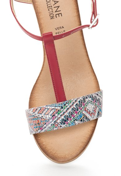 Zee Lane Collection Sandale multicolore cu bareta in forma de T Femei image_6